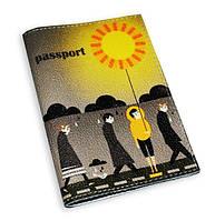 Кожаная обложка для паспорта -Солнечный человек-