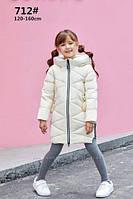 Натуральный пуховик на девочку GXF. Размеры 120-160., фото 1