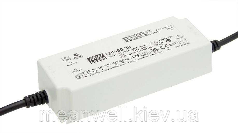 LPF-90D-42 Блок питания 42В MeanWell  90.3Вт, 42В, 2.15А драйвер светодиода с диммированием