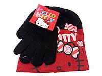 Набор шапка+перчатки для девочки