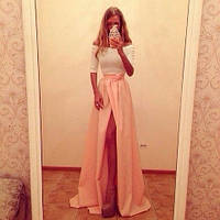 Длинное платье абрикоска золотой песок