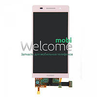 Дисплей Huawei Ascend P6-U06 with touchscreen pink orig