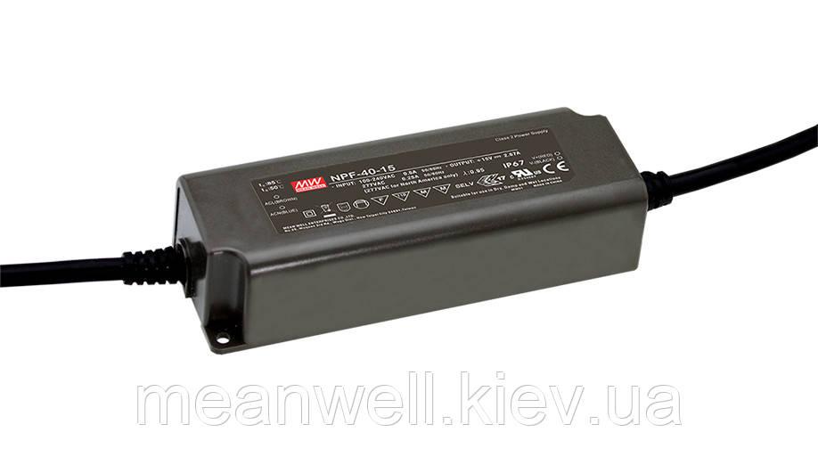NPF-40-36 AC/DC LED-драйвер MeanWell  40.32Вт, 36В, 1.12А