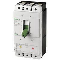 Автоматический выключатель LZMN3-AE630-I, с электронным расцепителем, Iн = 630 Ампер, 380В, 3 полюса, 50 кА, серии LZM, Moeller an Eaton Brand