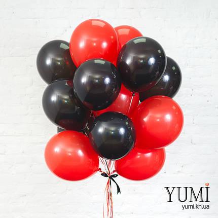 Букет для любимого человека из 15 гелиевых шаров , фото 2