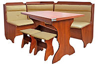 Кухонный уголок Кардинал с раскладным столом и 2 табурета. Честная цена!
