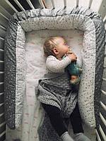 """Подушка - змея,для беременных и бампер  в кроватку """"Мелкая звезда"""", фото 1"""