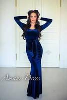 Длинное бархатное платье, фото 1