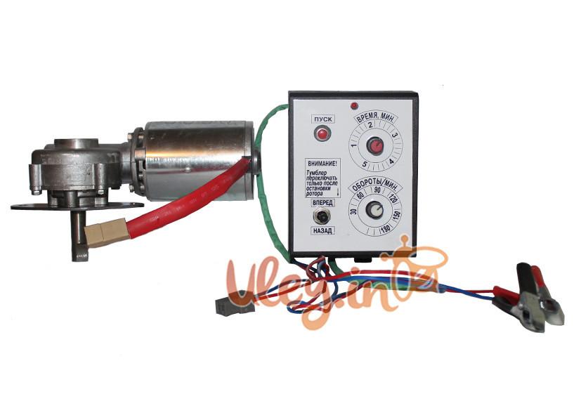 Привод медогонки электрический, горизонтальный напряжение 12 В (алюминиевый корпус редуктора)