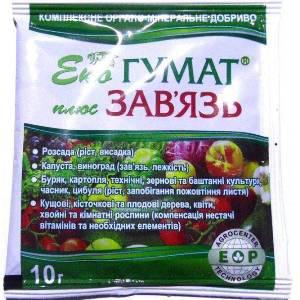 Стимулятор завязи Эко Гумат + Завязь 10 г — восстановление плодородия почвы и питание растений