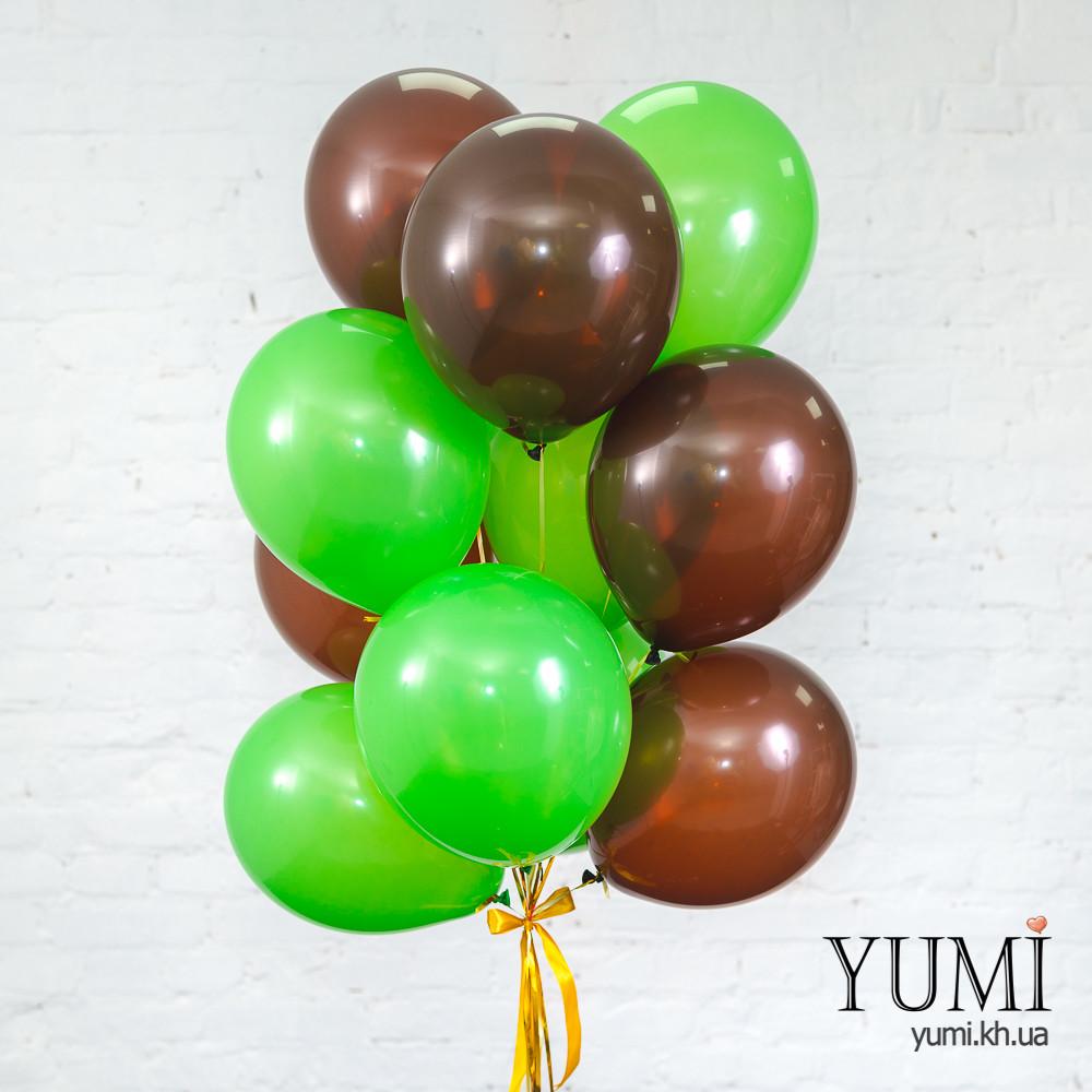 Связка для мальчика из 15 шариков с гелием