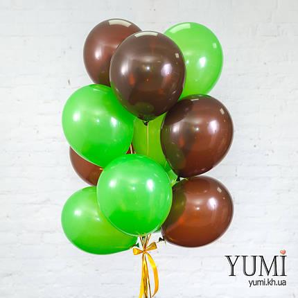 Связка для мальчика из 15 шариков с гелием, фото 2