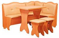 Кухонный уголок Герцог с раскладным столом и 2 табурета. Честная цена!
