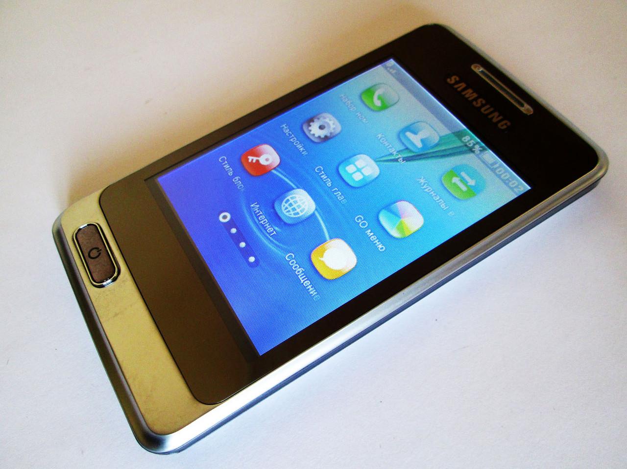 """Сенсорный телефон Samsung A320 -3.2"""" - 2Sim -FM -BT - Cam - флип-чехол"""