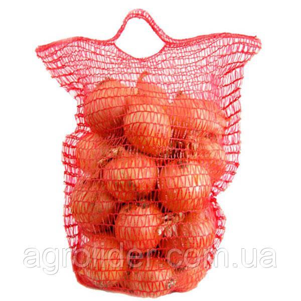 Сетка-мешок овощная с ручкой 26х39 (до 5 кг) Красная, Оранжевая