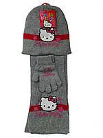 Набор шапка+шарф+перчатки для девочки