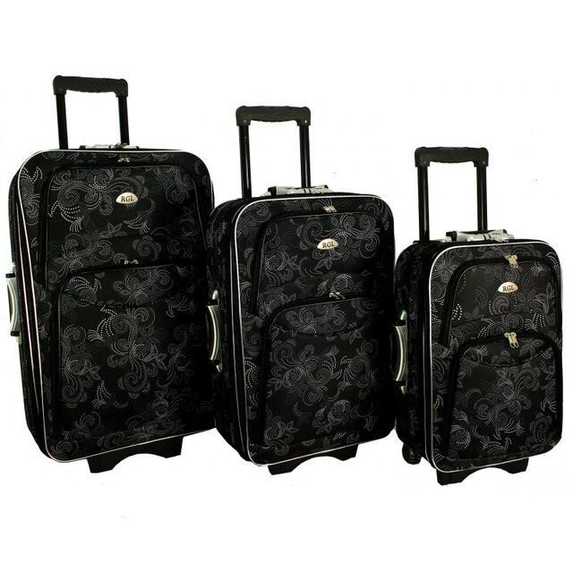 Дорожный чемодан сумка 773 набор 3 штуки орнамент