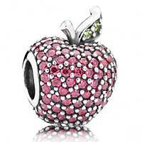 Подвеска-шарм Красное яблоко паве