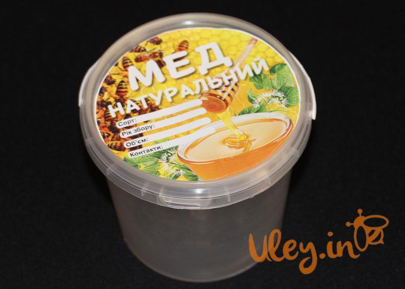 Этикетка «Мед натуральный» диаметр 11см (самоклейка) — 100шт.