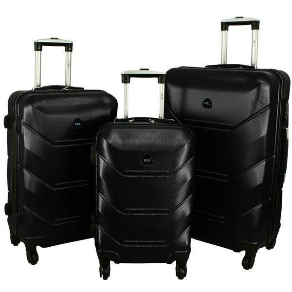 Дорожный Чемодан сумка Carbon 720 набор 3 штуки черный