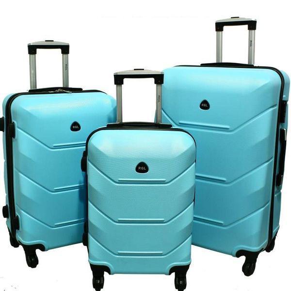 Дорожный Чемодан сумка Carbon 720 набор 3 штуки голубой