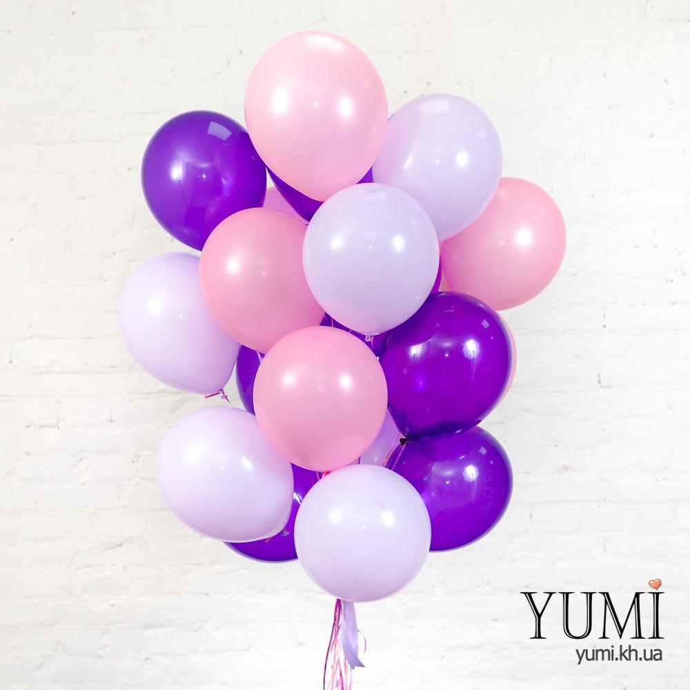 20 воздушных шаров с гелием для девушки