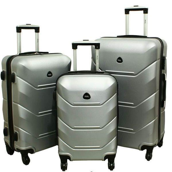 Дорожный Чемодан сумка Carbon 720 набор 3 штуки серебряный