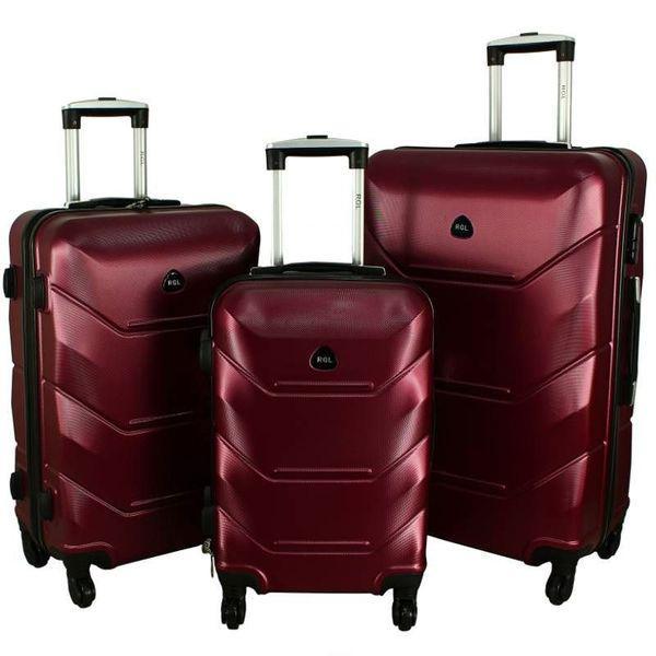 Дорожный Чемодан сумка Carbon 720 набор 3 штуки бордовый