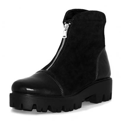 Ботинки на молнии с кожаным носком 6106