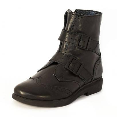 Ботинки кожаные на пряжках 7910