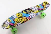 Penny Fish Skateboard Original 22 Рисунок Joker и светящиеся колеса