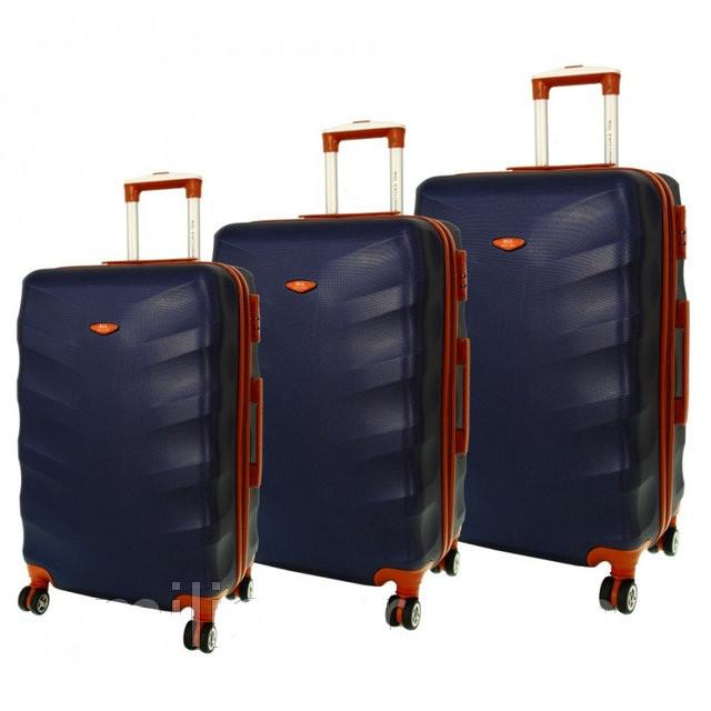 Дорожный чемодан сумка Exclusive набор 3 штуки темно-синий