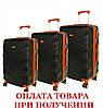 Дорожный чемодан сумка Exclusive набор 3 штуки черный, фото 2