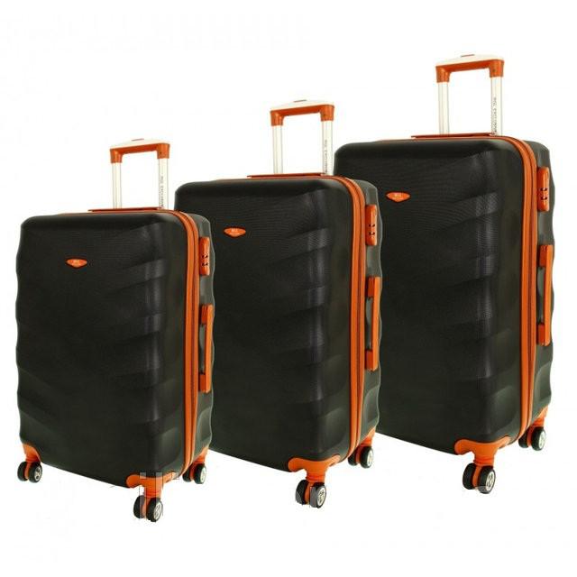 Дорожный чемодан сумка Exclusive набор 3 штуки черный