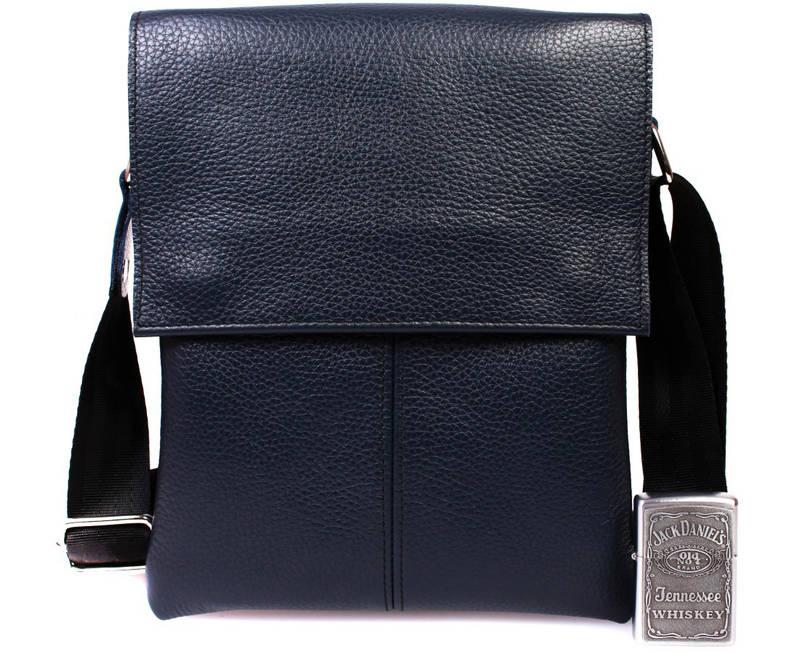 Мужская кожаная сумка синяя через плечо av-106blue в категории мужские сумки  оптом украина в beea4435dfc