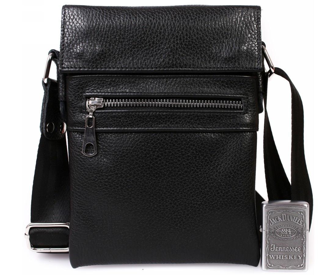 a9681552c4aa Небольшая мужская кожаная сумка для документов черная av-95black в  категории сумки оптом харьков от