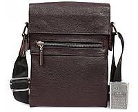 66fe75849798 Мужская кожаная сумка через плечо коричневая av-95brown в категории сумки  оптом харьков от производителя