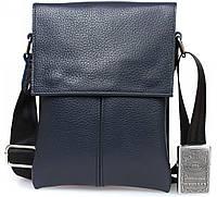 2b2e112f3b43 Синяя кожаная сумка для документов через плечо сумки оптом одесса av-140blue  в категории кожаные