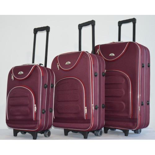 Чемодан сумка женский Bonro комплект 3 штуки Цвет: бордовый