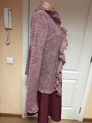 Кофта женская вязаная ажурная, фото 2