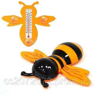 Термометр оконный 'Наша Пчела' 23x20см, для крепления на стекло, пакет