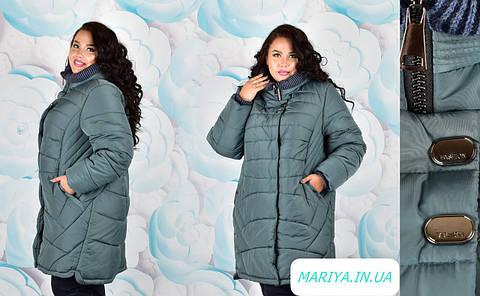 Модная зимняя куртка женская большого размера 113