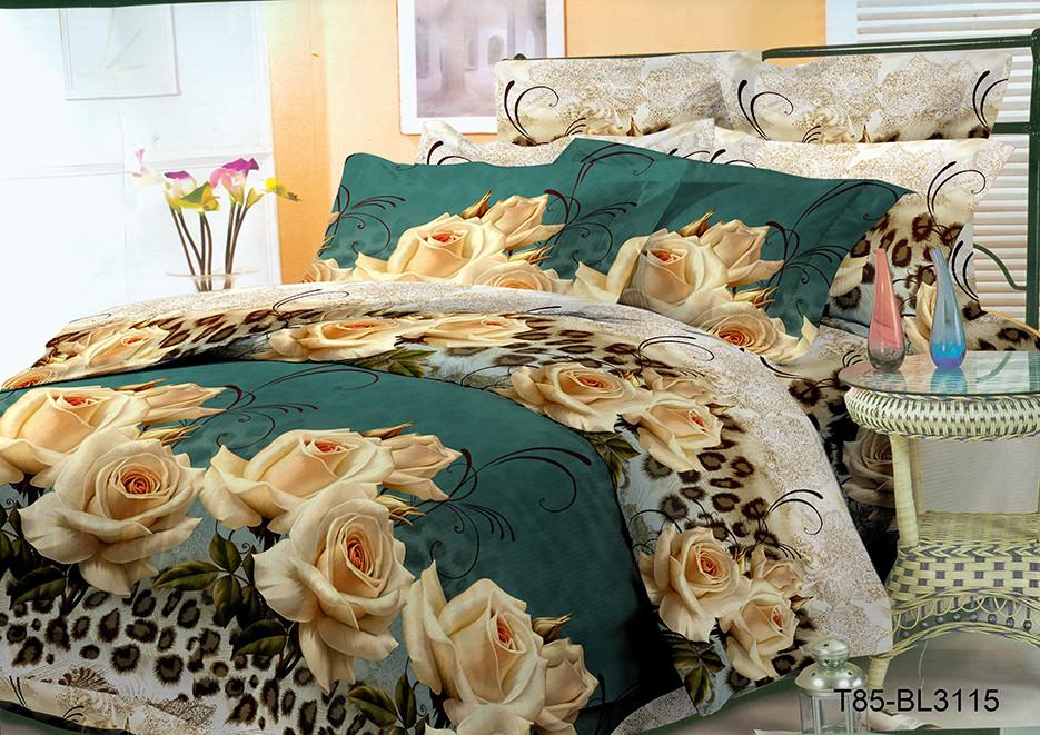 Двуспальный комплект постельного 180х220 из полиэстера Тигровая роза