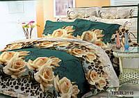 Евро комплект постельного 200х220 из полиэстера Тигровая роза