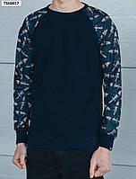 Мужской темно-синий свитшот Staff raglan daggers navy