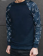 Мужской темно-синий свитшот Staff swallows navy
