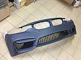 Передний бампер на BMW F30 M стиль (без противотуманок), фото 2
