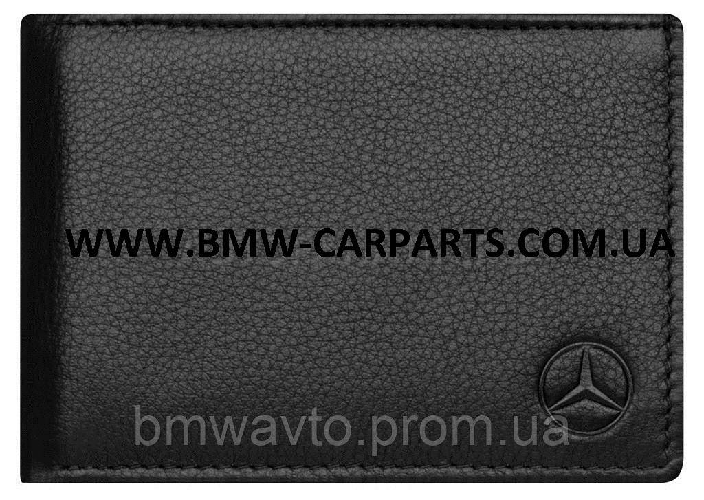 Кожаный кошелек Mercedes Mini wallet, Basic, Black Leather