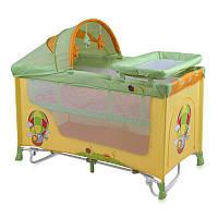 Детская кровать манеж для новорожденных Lorelli Nanny 2 layers Plus Rocker multicolor balloon