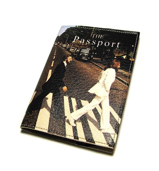 Обложка для паспорта мужская Битлз